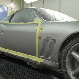 repair work being done on a Ferrari